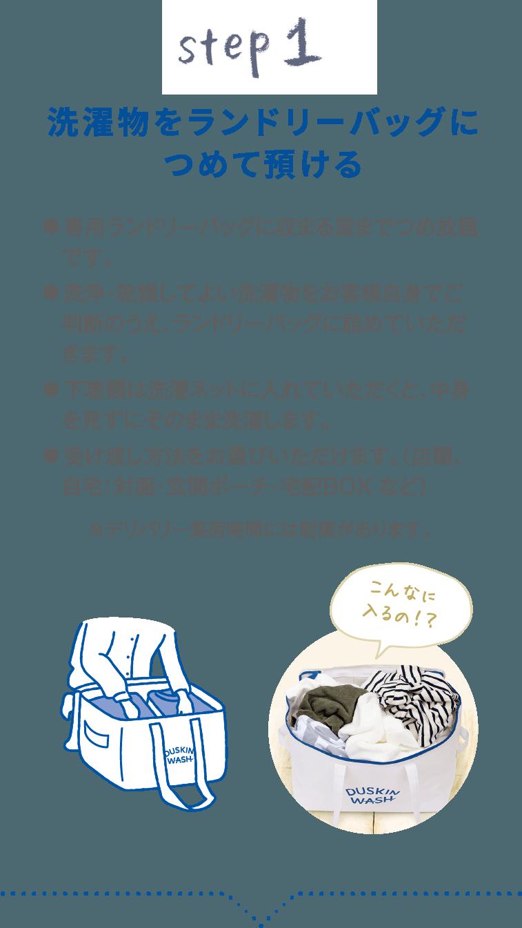 洗濯代行利用の流れ